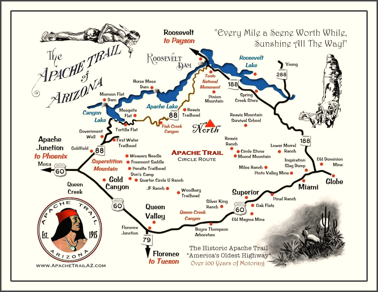 apache lake az map Arizona Apache Trail Apache Trail Map apache lake az map